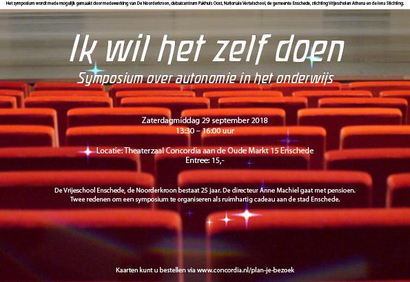 Uitnodiging Symposium 'Ik wil het zelf doen'